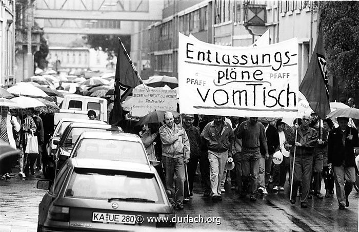 Pfaff Demonstration 1993